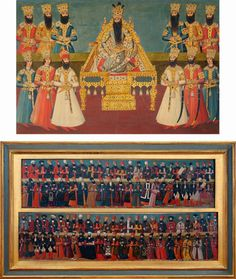 Fath-Ali Shah Qajar and his courtiers   Fath-Ali was the Shah of Iran from 17 June 1797 until 23 October 1834.