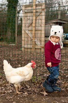 Bear hat byBaby Gap; sweatshirt and skinny jeansbyCheap Mondays;boots byJoe Fresh kids.
