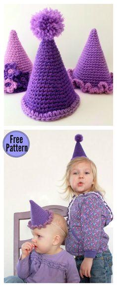 Party Hat Free Crochet Pattern