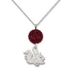 South Carolina Gamecocks Ovation Crystal Necklace