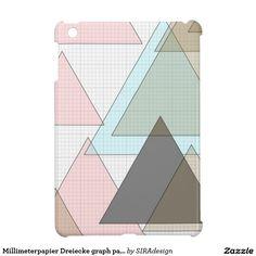 Millimeterpapier Dreiecke graph paper iPad Mini Cover