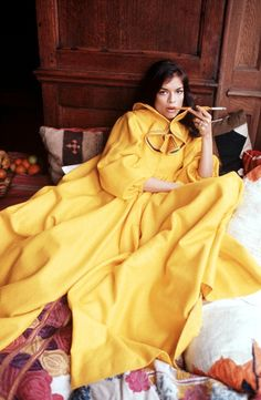 Bianca Jagger Laying In Robes