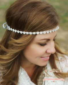 "Enchanted Shimmer Designs ""Rosebud"" Headpiece"