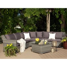 Shop for Cayman 4-piece Outdoor Sectional. Get free delivery at Overstock.com - Your Online Garden