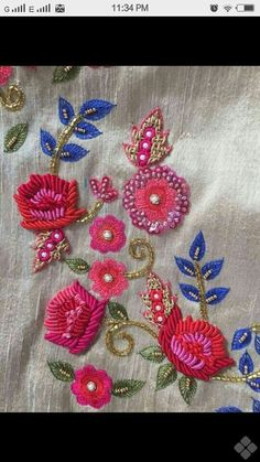 use of Brazilian embroidery!
