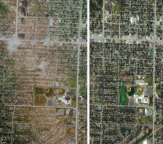 Joplin tornado damage.