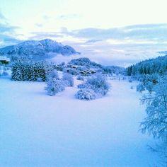 La vista dalla mia camera dopo l'ultima nevicata - Fai della Paganella