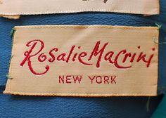 Rosalie Macrini New York - vintage clothing label