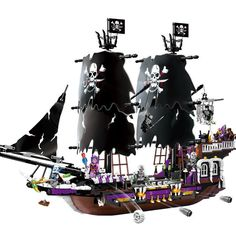#transformer pirates of the caribbean black general pirate boat building blocks toys 1456pcs