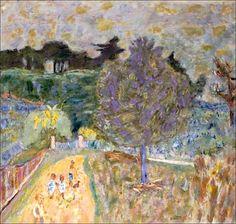 alongtimealone: Pierre Bonnard (1867-1947) Le chemin jaune aux enfants (by BoFransson)