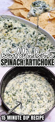 Best spinach artichoke dip recipe. Great potluck and party appetizer crock pot and stove directions. Roast Beef Recipes, Crockpot Recipes, Cooking Recipes, Appetizer Salads, Appetizer Recipes, Appetizers, Yummy Guacamole Recipe, Best Spinach Artichoke Dip, Spinach Dip