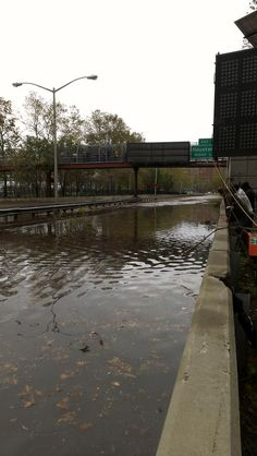 FDR drive at East River Park, Exit 5 Houston St. #sandy