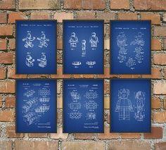 Ultimative Lego Fan Patent Wand Kunst Poster Set von QuantumPrints