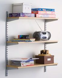 Wall Mounted Chrome Wire Shelving   House   Pinterest   Wire ...