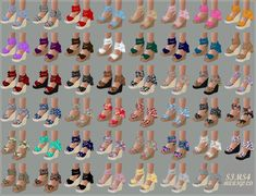 /SIMS4 CC/ /Please refer to the notice on the bottom (TOU)/ 오랜만에 신발에 꽂혀서 모델링 했어요~ 여름느낌 물씬나는 웨지힐입니다. down...