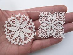 This listing is for set of 11 miniature crochet doilies for dollhouse. These micro crochet doilies are also great as scrapbooking kit or for embellishing clothing or bags, miniature dreamcatchers, soldering jewelry, clay or porcelain imprint or whatever your crafty hands want to do