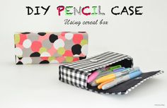 Vikalpah: DIY Fabric-Covered Pencil Case using Cereal boxes