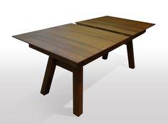 Dining table LIGNUS solid wood walnut extractable 200