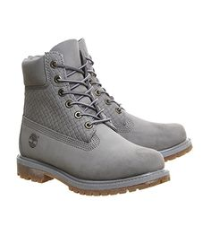 Timberland Premium 6 Boots Grey Nubuck Emboss - Ankle Boots