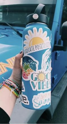 Stickers for Water Bottles Big Cute Aesthetic Trendy Stickers for Teens Kids Girls and Boys, Perfect for Hydro Flask Laptop Notebook Phone Car Skateboard Water Bottle Art, Cute Water Bottles, Stickers On Water Bottles, Summer Aesthetic, Blue Aesthetic, Hydro Flask Water Bottle, Polaroid, Cute Stickers, Laptop Stickers