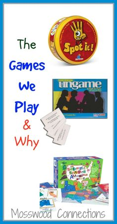 The Games We Play and Why Board games that educate as you play. Build turn taking, critical thinking, basic skills, visual processing and more! All as you play a game.