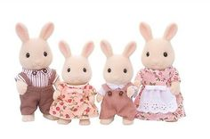 Calico-Critters-MILK-RABBIT-FAMILY-Epoch-Japan-F-S