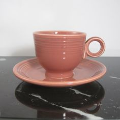 Vintage Fiestaware Old Rose cup 1950s by Hallingtons on Etsy