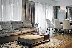 La doble función de las cortinas - Living - ESPACIO LIVING