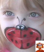 Lots of face painting ideas.... maybe I will make a mini catalog for kids to choose from.