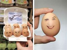 Wilkinson Eggs Guerrilla Marketing Example - Wilkinson Quattro Titanium placed transparent stickers of masculine faces on the eggs and put an advertising flyer with a promotion on the back in every box. Advertising Flyers, Creative Advertising, Advertising Design, Guerrilla Advertising, Advertising Ideas, Guerilla Marketing Examples, Marketing Ideas, Street Marketing, Viral Marketing