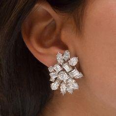 Vir Jewels cttw Certified Diamond Stud Earrings White Gold with Screw Backs – Fine Jewelry & Collectibles Diamond Bracelets, Diamond Earrings, Diamond Jewelry, Diamond Tops, Modern Jewelry, Bridal Jewelry, Jewelry Design, White Christmas, Jewellery Shops