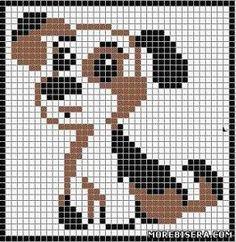 Схемы собак, зайцев и котят для вышивки - Животные - Схемы плетения бисером - Сокровищница статей - Плетение бисером украшений, деревьев и цветов, схемы мк: