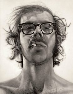 Big Self Portrait - Chuck Close This is an example of his photorealism art style. Chuck Close Paintings, Chuck Close Portraits, Manet, Renoir, Illustrations, Illustration Art, Art Criticism, Design Graphique, Thing 1