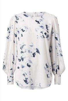 Print Blouse | Clothing Printed Blouse, Cute Outfits, Clothes, Tops, Colour, Women, Cream, Navy, Winter
