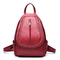 Women's Vintage Leather Backpack for Girls School Bag Boo…