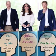 """Jordon-Lee on Twitter: """"The Duke and Duchess of Cambridge and Prince Harry reveal what makes them happy as they launch #HeadsTogether"""