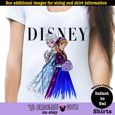 Disney Vogue Shirt, Disney Princess Vogue Shirt, Frozen Vogue Shirt by thefashionablemouse on Etsy