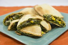 Spinach Patty Quesadilla. Bake our Spinach patties and cool. Open ...