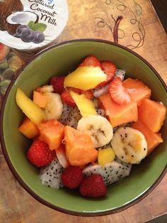 My healthy breakfast. Beautiful !!! DianasMurals.com