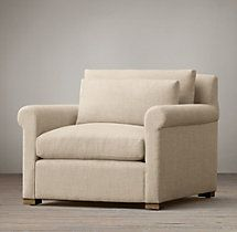 Belgian Petite Roll Arm Upholstered Chair