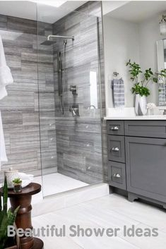 Double Bathroom Vanity Designs Ideas - If space authorizations, 2 sink areas provide wonderful benefit in shared washrooms. Locate ideas for bathroom vanities with double the space, . Home Interior, Bathroom Interior, Modern Bathroom, Master Bathrooms, Interior Design, Minimal Bathroom, Dream Bathrooms, Farmhouse Bathrooms, Master Baths