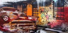 Ghetto car 120x60 ALU Car, Painting, Pictures, Automobile, Painting Art, Paintings, Painted Canvas, Autos, Cars
