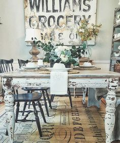 """1,368 Likes, 21 Comments - DECORSTEALS.COM (@decorsteals) on Instagram: """"If you want #farmhousedecor inspiration, @rustndruffles will give you it!! Her home is STUNNING…"""""""
