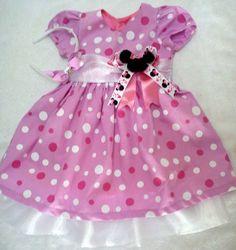 Vestido Minnie rosa Luxo+ tiara   Ju Rosas   1F86D5 - Elo7