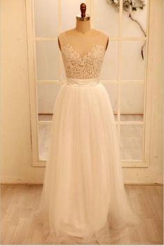 Jaro 2014 Nášivky Přírodní Ruční na míru Svatební šaty