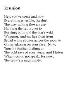 The Crow is a reunion poem, a reflection on the sweetness of togetherness and the sharp pain of separation overcome at last. No Way, Then And Now, Crow, Poems, Feather, Google Search, Check, Raven, Quill