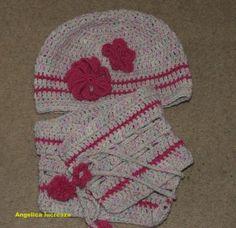 Angelica lucreaza: caciula si gatar crosetate Crochet Clothes, Beanie, Hats, Fashion, Moda, Hat, Fashion Styles, Beanies, Fasion
