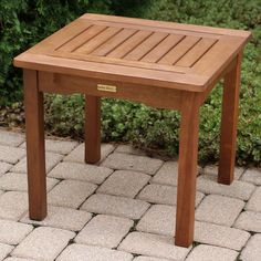 Outdoor Interiors Square Outdoor End Table - 19470