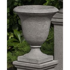 Campania International, Inc Linwood Round Pedestal Urn Planter Finish: Alpine Stone