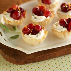 Phyllo and Cranberry Cream Cheese Bites